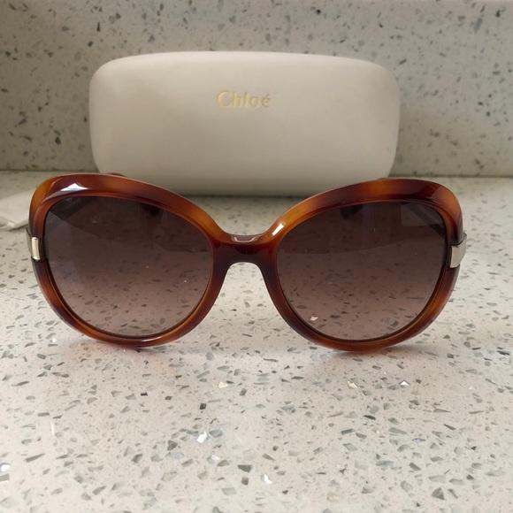 13615f47bc85 Chloe Accessories - Chloe Tortoise Shell Plastic Sunglasses